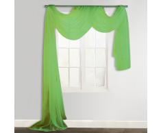vidaXL Cortina de gasa transparente, 140 x 600 cm, Verde