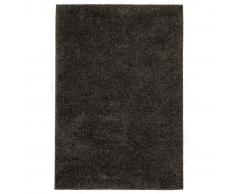 vidaXL Alfombra shaggy peluda 160x230 cm gris antracita
