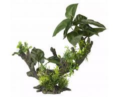 Aqua d'ella Planta artificial 2 tamaño L 28x15x23,5 cm 234/432068