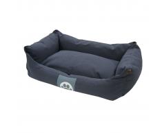 Overseas Cama para perro lona 60x40x18 cm azul marino