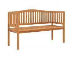 vidaXL Banco de jardín de madera maciza de teca 150 cm