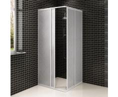 vidaXL Mampara de ducha con marco de aluminio, 80 x 80 cm