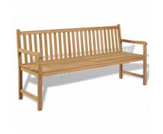 vidaXL Banco de jardín madera teca 180x62,5x90 cm