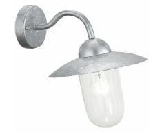 EGLO Lámpara de pared exterior Milton 60 W plateado 88489