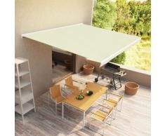 vidaXL Toldo de carrete manual color crema 300x250 cm