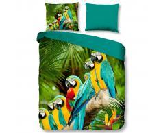 Pure Funda de edredón 6042-M Parrots 240x200/220 cm multicolor