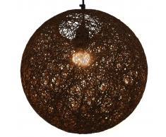 vidaXL Lámpara colgante esférica marrón E27 35 cm