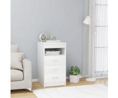 vidaXL Cajonera de aglomerado blanco 40x50x76 cm