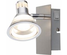 GLOBO Lámpara foco LED TAKIRO níquel y acrílico 56956-1