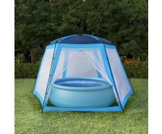 vidaXL Carpa para piscinas 590x520x250 cm azul