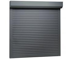 vidaXL Persiana enrollable aluminio gris antracita 100x100 cm