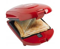 Bestron Sandwichera, tostadora y gofrera 3 en 1 de ADM2003R,520 W,roja