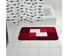 RIDDER Alfombrilla de baño Coins 60x90 cm roja 7103306