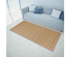 vidaXL Alfombra de bambú 160x230 cm marrón