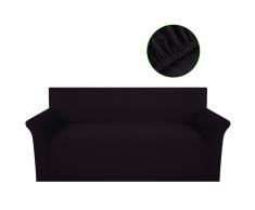 vidaXL Funda elástica marrón de tejido poliéster punto para el sofá