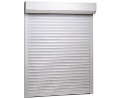 vidaXL Persiana enrollable aluminio blanca 110x130 cm
