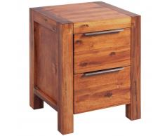 vidaXL Mesita de noche de madera de acacia maciza 45x42x58 cm