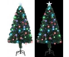 vidaXL Árbol de Navidad artificial con soporte/LED 120 cm 135 ramas