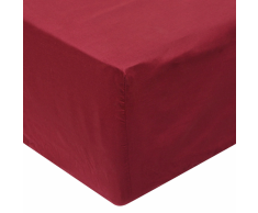 vidaXL Sábana bajera 90x200 cm algodón burdeos 2 unidades
