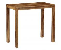 vidaXL Mesa de bar de madera maciza de sheesham 118x60x107 cm