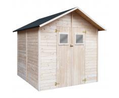vidaXL Caseta de almacenamiento de jardín de madera 226x248x218 cm