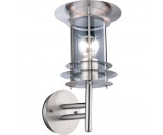 GLOBO Lámpara de pared exterior MIAMI acero inoxidable plateada 3151