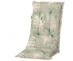 Madison Outdoor Cojín de silla con respaldo alto Dotan 123x50 cm verde