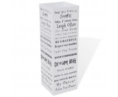 vidaXL Paragüero de color blanco, cuadrado de acero, 48.5 cm, guarda bastones