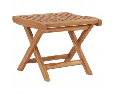 vidaXL Reposapiés plegable madera maciza de teca 46,5x49x41,5 cm