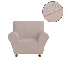vidaXL funda elástica para sofá de tela jersey poliéster color beige