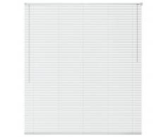 vidaXL Persiana aluminio 120x220 cm blanca