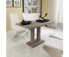 vidaXL Mesa de comedor tablero mdf, color roble