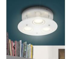 vidaXL Lámpara LED Redonda de Techo con 3 Bombillas
