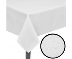 vidaXL 5 manteles blancos 250 x 130 cm