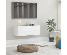 vidaXL Mueble para TV de aglomerado blanco 80x30x30 cm