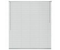 vidaXL Persiana aluminio 80x130 cm plateada