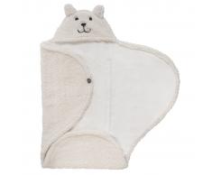 Jollein Manta envolvente de bebé Teddy Bear blanco crudo 032-566-65092