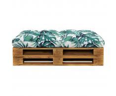vidaXL Cojín de asiento de jardín de tela verde 120x80x10 cm