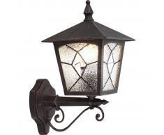 GLOBO Lámpara de pared exterior ATLANTA aluminio negra 3126