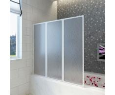 vidaXL Mampara de ducha con 3 paneles plegables, 117 x 120 cm