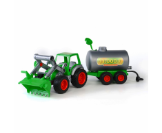 Polesie Tractor con pala frontal y cirterna 57x15x17 cm verde 1450616