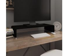 vidaXL Soporte para TV/Elevador monitor cristal negro 70x30x13 cm