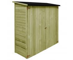 vidaXL Caseta de herramientas de jardín madera pino FSC 192x76x175 cm