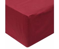vidaXL Sábana bajera 180x200 cm algodón burdeos 2 unidades