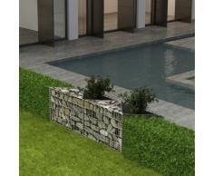 vidaXL Cesta de muro de gaviones acero galvanizado 120x30x50 cm