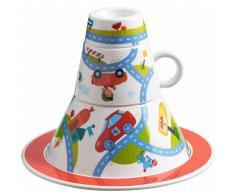 HABA Set de vajilla desayuno para niños Motorcade 4 uds 302063