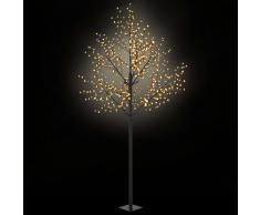 vidaXL Árbol de Navidad interior exterior LED IP44 300cm blanco cálido