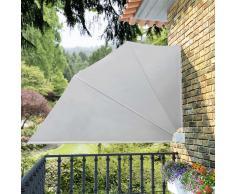 vidaXL Toldo lateral plegable para el patio, 160 x 240 cm, crema