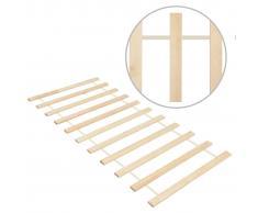 vidaXL Somier enrollable con 11 láminas madera pino maciza 70x200 cm