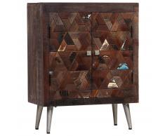 vidaXL Aparador de madera maciza reciclada 60x30x76 cm